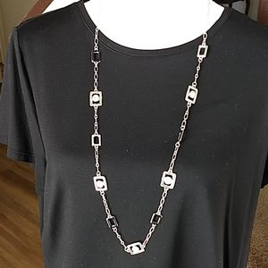 Avenue Long Silver Necklace